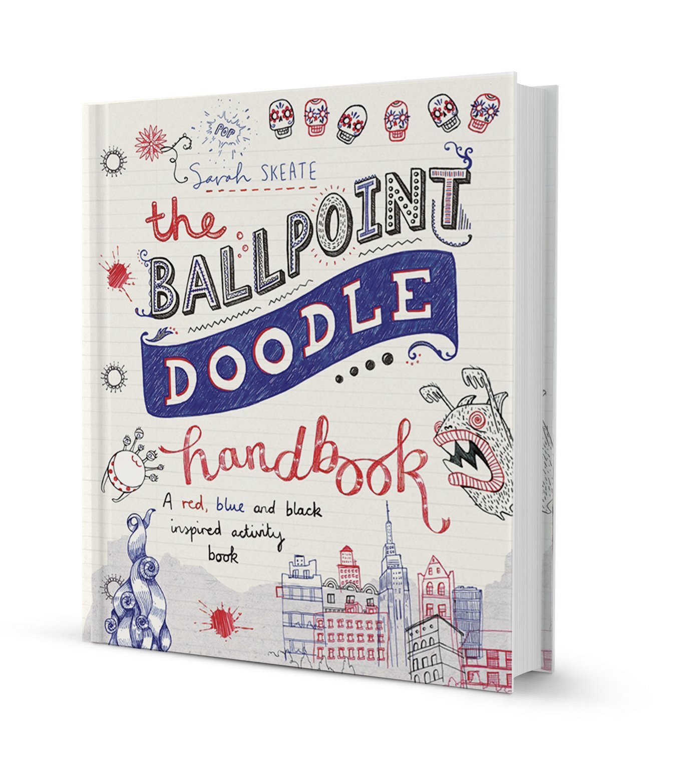 the three colour drawing book draw anything with red blue and black ballpoint pens drawing books english edition
